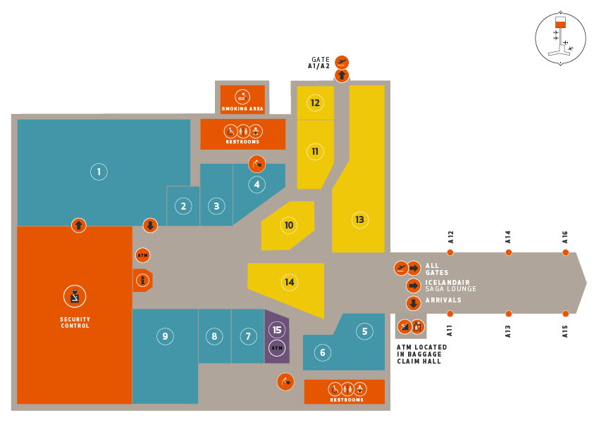 Maps of the Airport | Keflavik Airport