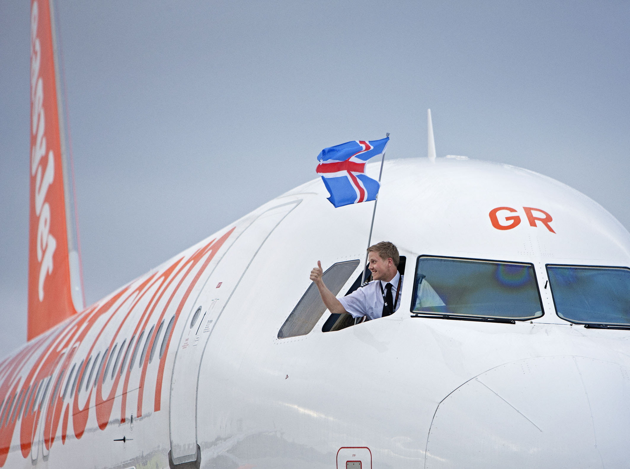 EasyJet's first flight to Iceland