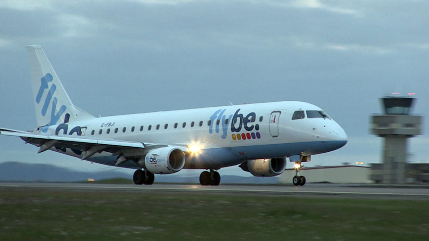 Flybe´s first flight from Birmingham to Keflavik Airport