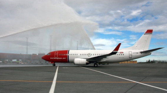 Norwegian's first flight to Iceland